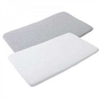 Maxi-Cosi Комплект 2бр./оп. чаршафи за бебешка кошара IRIS White/Grey