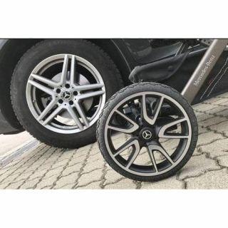 Спортни колела с окачване, изработени от Solight Ecco с въздушна камерас пет двойни спици в дизайна, вдъхновен от модела AMG