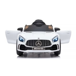 Лицензирана детска акумулаторна кола Mercedes GTR AMG, бял