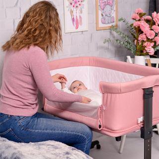 Lorelli Бебешка кошара за спане/игра 2в1 Milano, розов