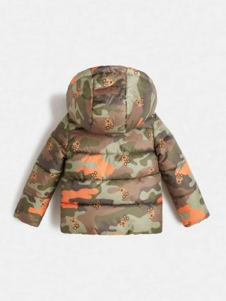 Guess детско зимно яке за момче с качулка Camouflage Bears