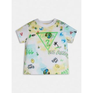 Guess детска цветна тениска с лого Chill Out