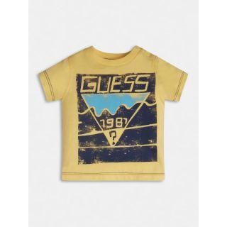 Guess детска жълта тениска за момче 1981 Guess