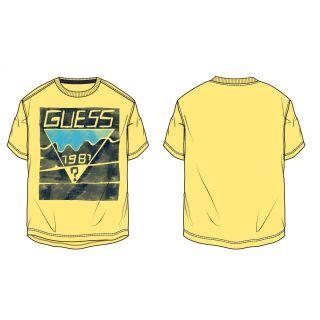 Guess детска жълта тениска за момче 1981