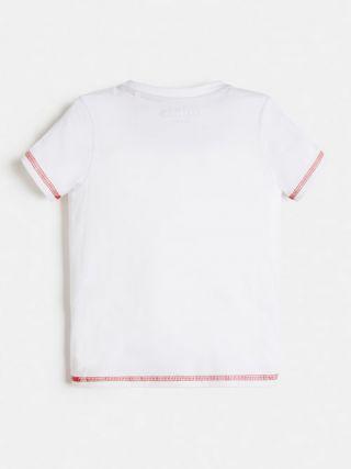 Guess детска бяла тениска с асиметрично лого