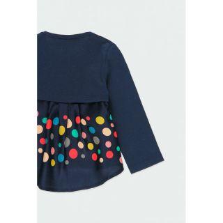 Boboli бебешки комплект долнище и блуза с 3D елементи