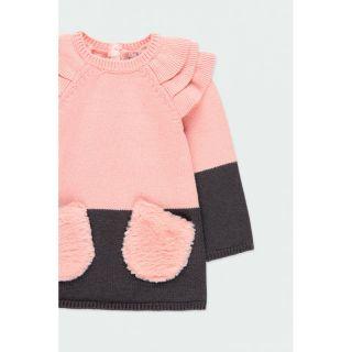Boboli плетена бебешка рокля с джобове