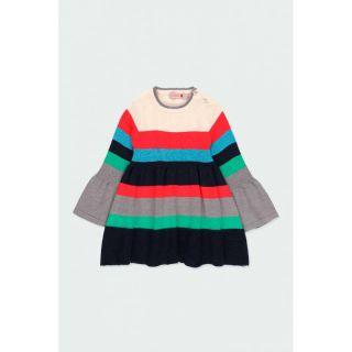 Boboli бебешка плетена рокля райе