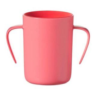 Tommee Tippee Неразливаща се преходна чаша 360° с дръжки 200ml, 6м+, розова