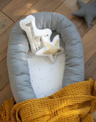 Petit Praia Мултифункционално бебешко гнездо за сън Night Blue Etoile