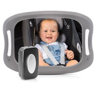 Огледало за наблюдение в автомобил Reer BabyView LED