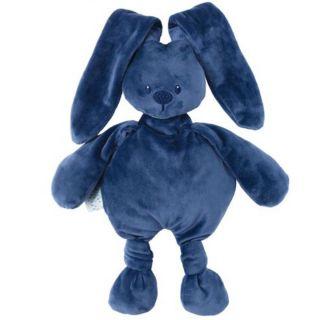 NATTOU Мека играчка Lapidou, Зайче, син 36см