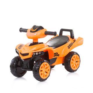 Chipolino Детска количка за яздене ATV с музика, оранжев