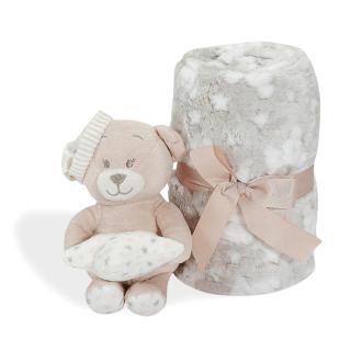 Interbaby бебешко одеяло с плюшена играчка