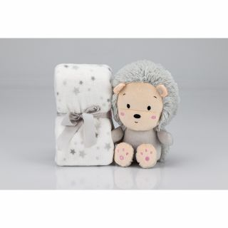 Interbaby Подаръчен комплект одеяло 80х110см с играчка Лъвче 26см