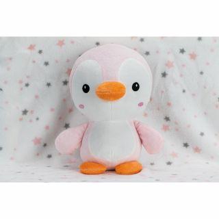 Interbaby одеяло 80х110см с играчка розов Пингвин 25см