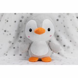 Interbaby одеяло 80х110см с играчка сив Пингвин 25см