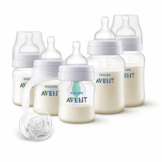Philips Avent КОМПЛЕКТ за новородено Classic Anti-colic AirFree PP + тренировъчно шише