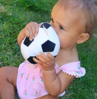 Playgro Текстилна футболна топка, 6м+
