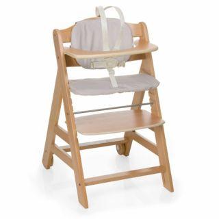 Hauck Дървен стол за хранене Beta + Natur/Check 6м+