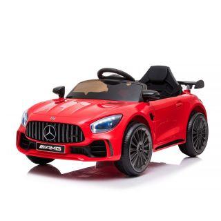 Лицензирана детска акумулаторна кола Mercedes GTR AMG, червен