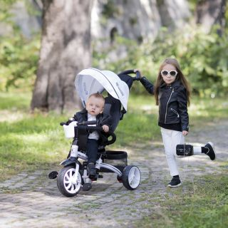 Lorelli Детска триколка/колело Rocket 2в1, сив