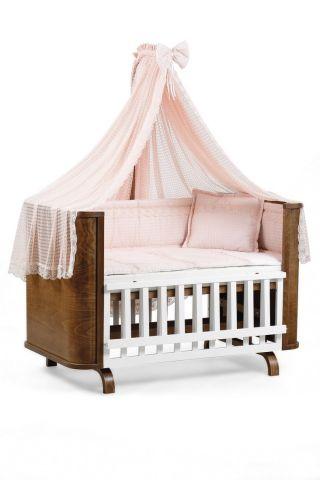Легло-люлка с матрак и спален комплект Milan Tahterevalli T0028pink2