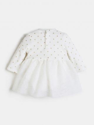 Guess Бебешка плюшена боди/рокля с тюл