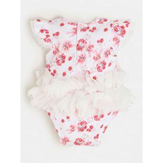 Guess бебешко боди с харбали с флорален десен