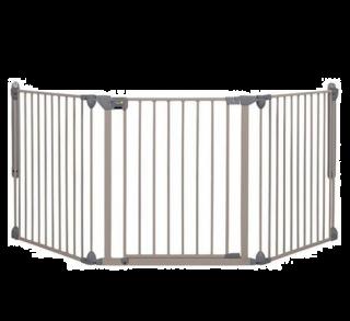 Safety 1st Модулна метална преграда, 3 модула за отвори 82-214 см, сива