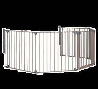 Safety 1st Модулна метална преграда, 5 модула за отвори 82-358см, сива