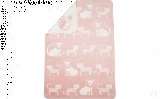 David Fussenegger Двулицево бебешко одеяло с термоконтрол Panda Лъвове и Тигри, Розово