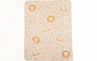 David Fussenegger Двулицево бебешко одеяло Juwel 70x90 Енот, Жълто