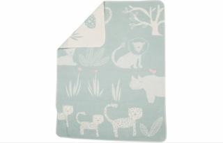 David Fussenegger Двулицево бебешко одеяло Juwel 70x90 Джунгла, Мента