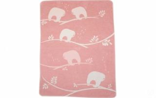 David Fussenegger Двулицево бебешко одеяло Juwel 70x90 Ленивец, Розово