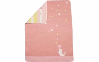 David Fussenegger Двулицево бебешко одеяло Juwel 70x90 Тюленче, Розово