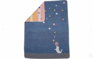 David Fussenegger Двулицево бебешко одеяло Juwel 70x90 Тюленче, Син