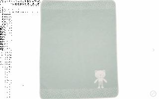 David Fussenegger Двулицево бебешко одеяло Juwel 70x90см зелено мече