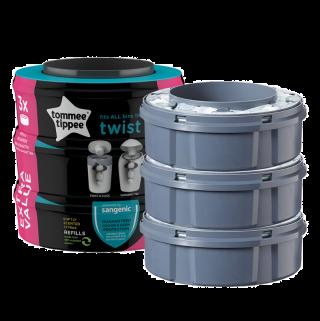 Tommee Tippee Комплект 3бр. резервни касети за хигиенен кош Twist&Click