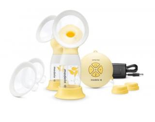 Medela Двойна електрическа двуфазна помпа за изцеждане на кърма Swing maxi Flex