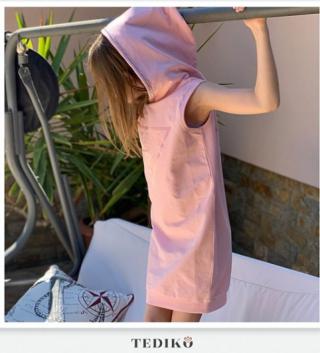 Guess детска туника тип рокля с качулка и камъни