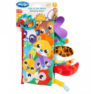 Playgro Сензорна книжка Опашки, 3м+