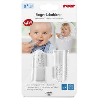 Силиконови напръстници за почистване на зъби Reer 79249