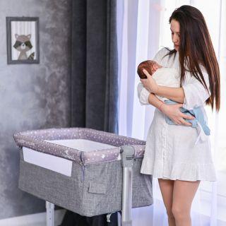 Lorelli Бебешка кошара с антирефлуксна система, Sleep N Care, сив
