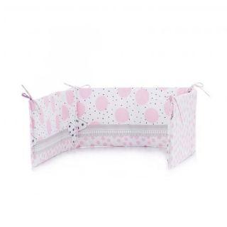 Chipolino обиколник за бебешко креватче 60х180см, розов балон