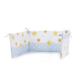Chipolino обиколник за бебешко креватче 60х180см, син
