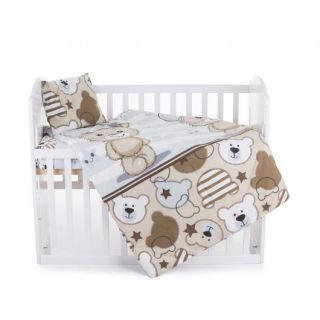 Chipolino Спален детски комплект 5 части за легло, синьо мишле