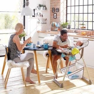 Стол за хранене/шезлонг 2в1,  Hauck Sit`n Relax Multi dots sand