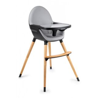 KinderKraft столче за хранене 2IN1FINI дърво/черно