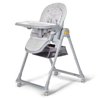 Детско столче за хранене/шезлонг 2в1, KinderKraft LASTREE, сив